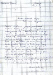 Podziękowania od Domżalskiego Tadeusza